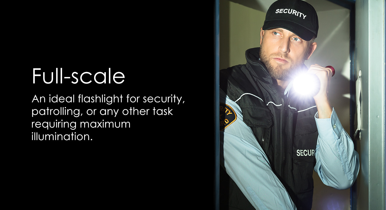 The BB-1K 1000 Lumen Ultra Bright CREE P50 LED Tactical Flashlight is built for security patrols