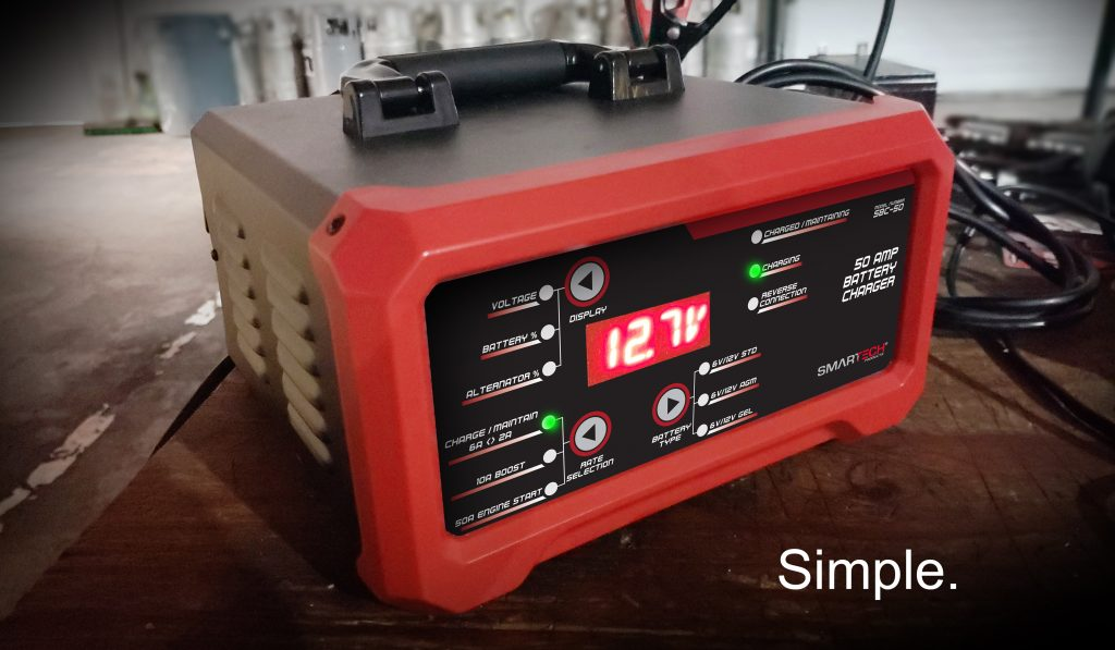Smartech 50 Amp Battery Charger with Batteries