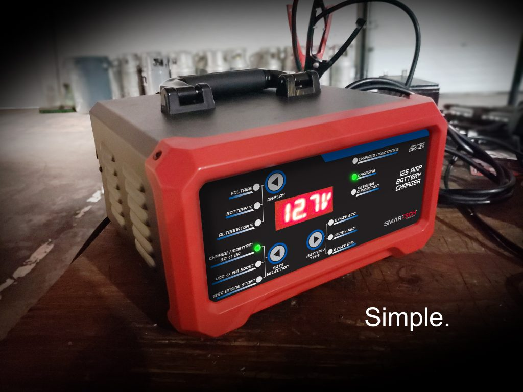 Smartech 125 Amp Battery Charger with Batteries