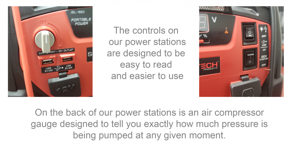 Air Compressor Gauges - The controls on our power stations are designed to be easy to read and easier to use