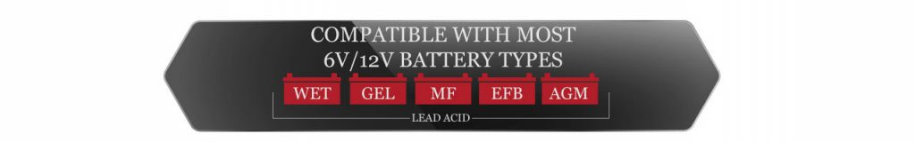 Battery Types the Smartech Shelf Battery Charger could charge. Lead Acid Batteries