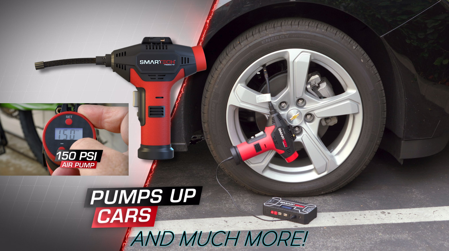 Pumps up tires and much more