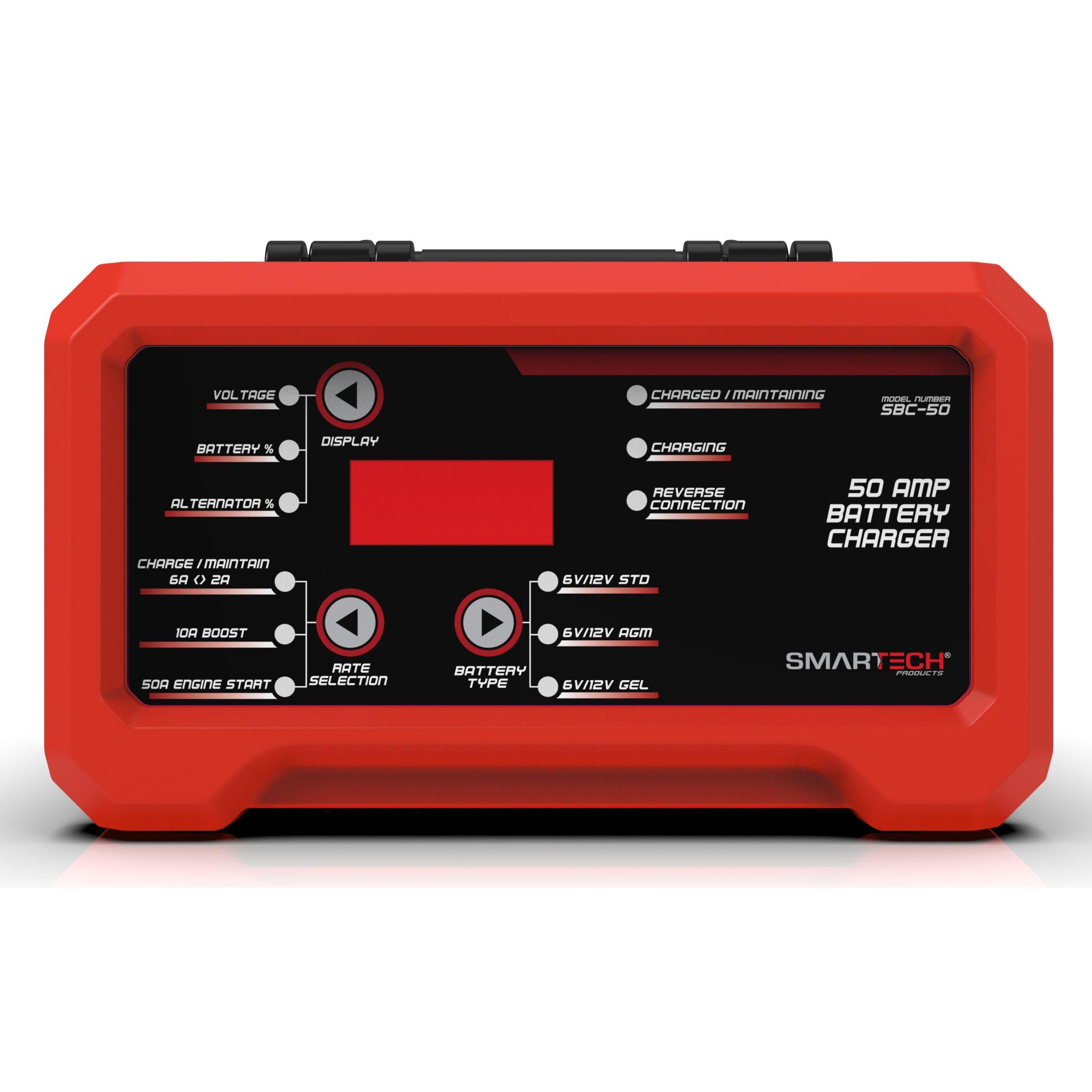 Smartech SBC-50 6V/12V Shelf Automotive Battery Charger, Maintainer