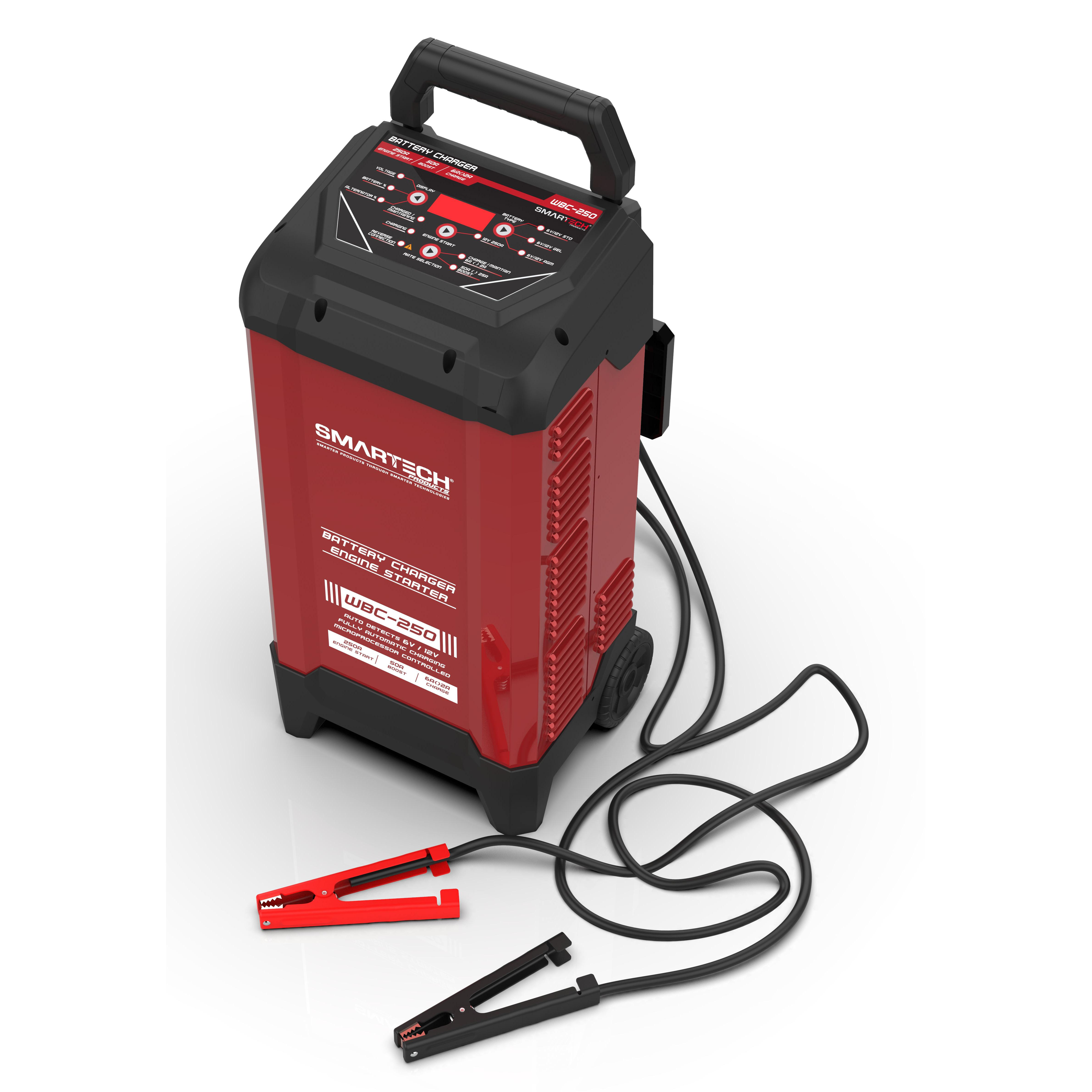 Smartech Wbc 250 6v 12v Wheel Automotive Battery Charger Maintainer 2a Lead Acid Car With Short Circuit Protection Charger250 2b Charger4b Charger6b