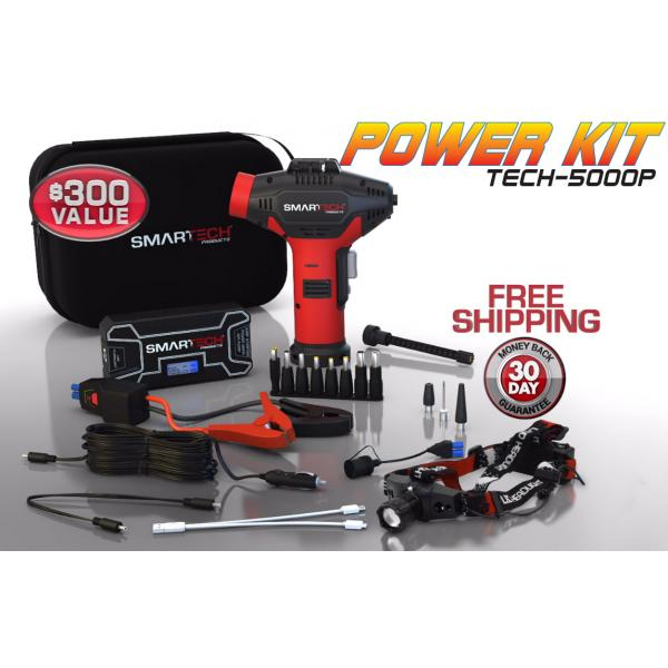 Smartech Power Kit Product shot with Headlamp